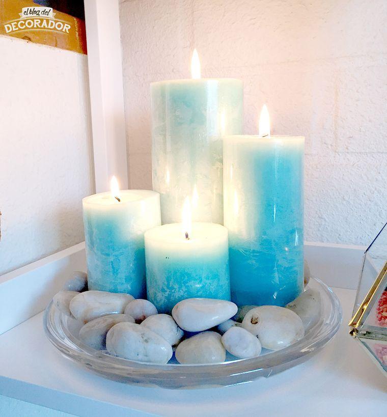decoración zen velas