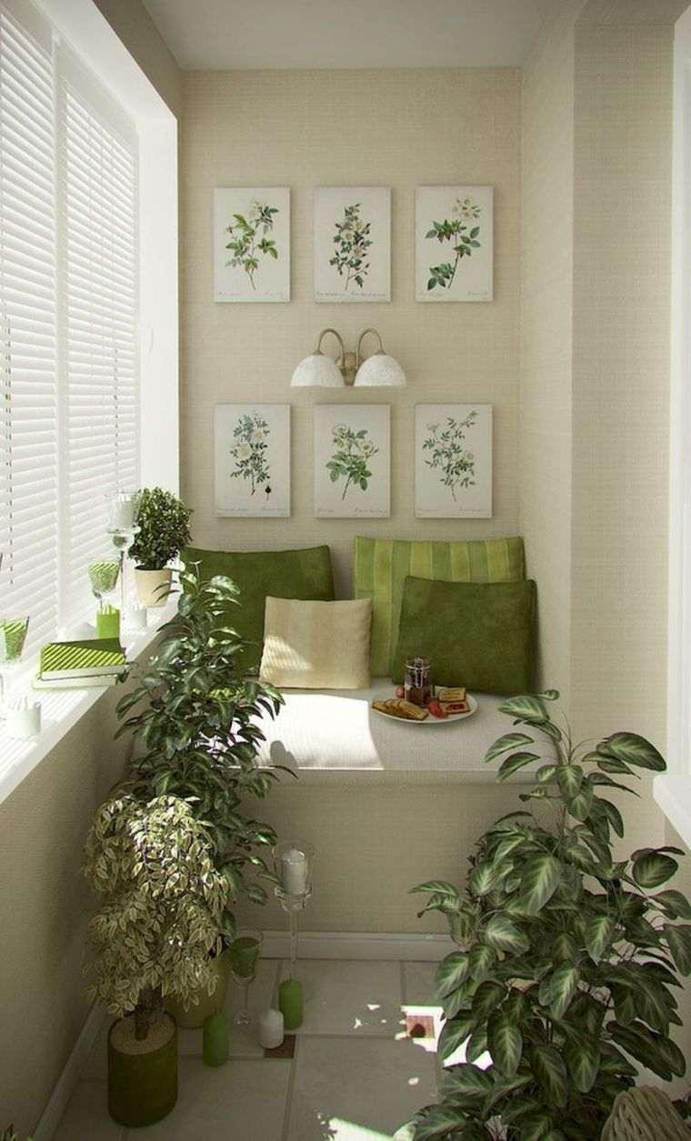 decorar balcón pequeño arte