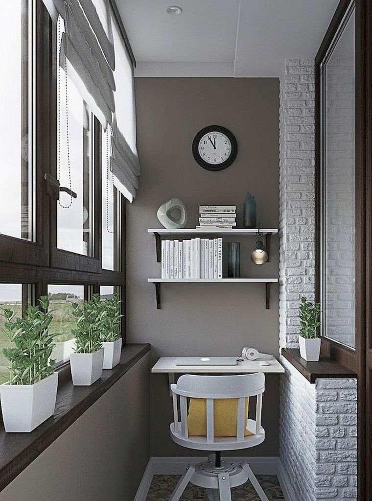 decorar balcón pequeño estudio