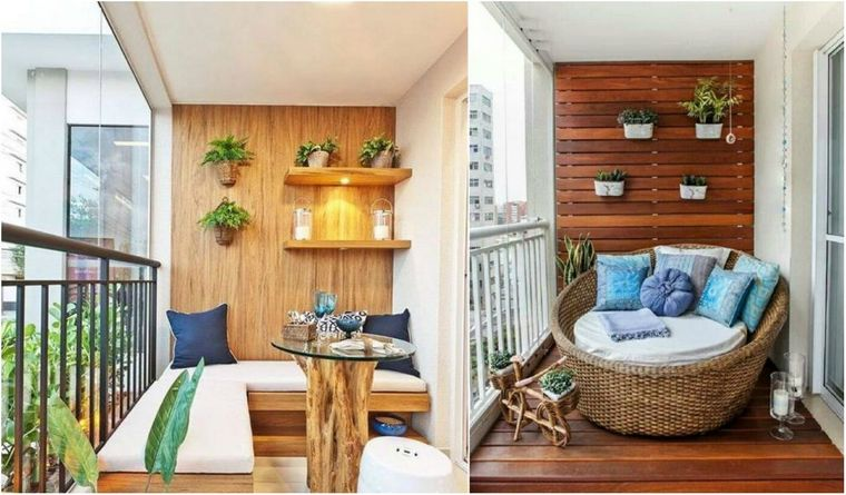 decorar balcón pequeño inicio