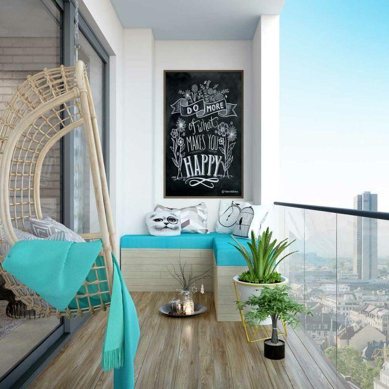 decorar balcón pequeño minimalista