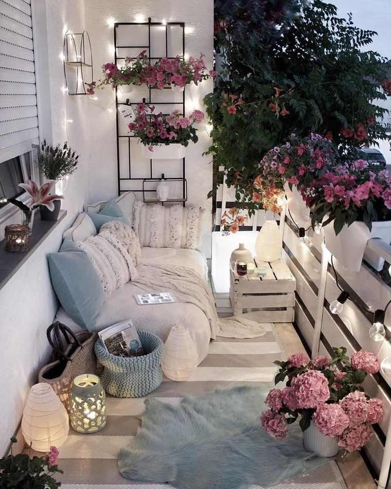 decorar balcón pequeño relajante