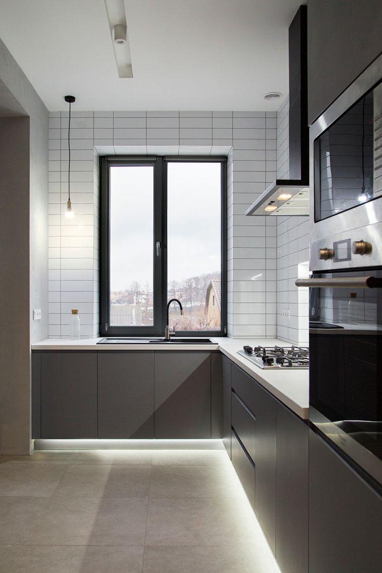 diseno-cocina-gris-ideas-espacios-pequenos