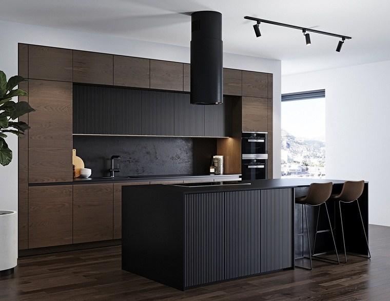 diseno-moderno-cocina-color-negro