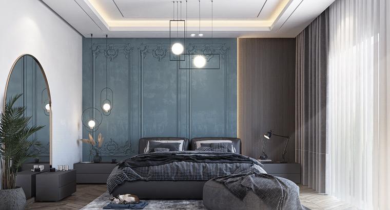 dormitorio-azul-pared-estilo-diseno