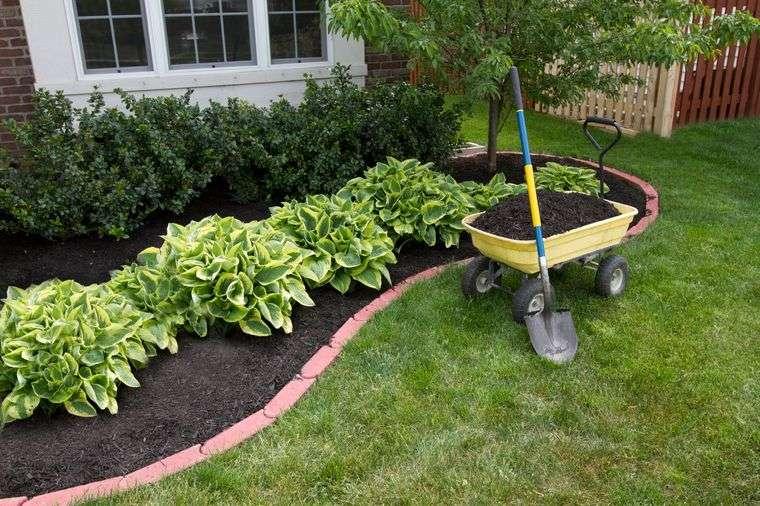 el jardín capa mantillo