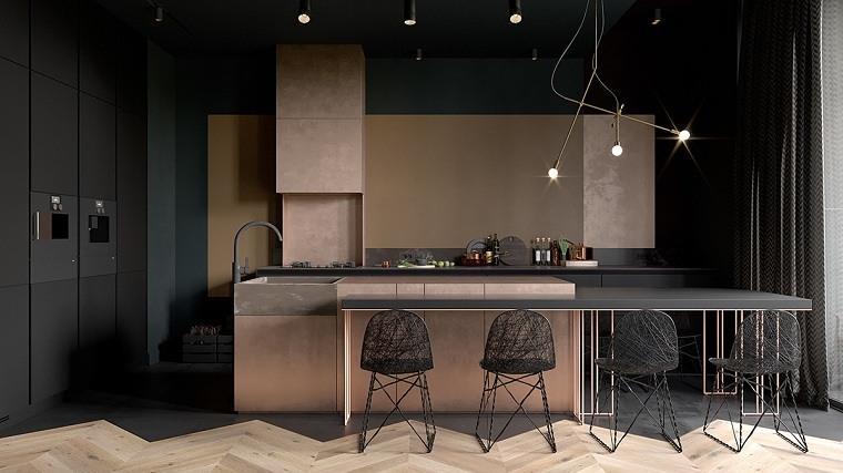 espacios-amplios-diseno-cocina-negra