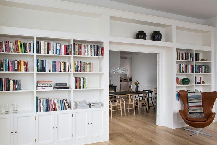 estantes modernos blancos