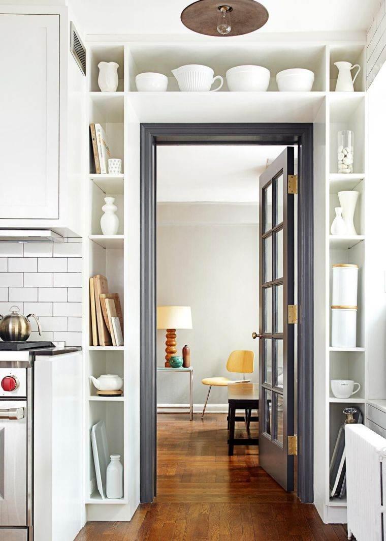 estantes modernos cocina