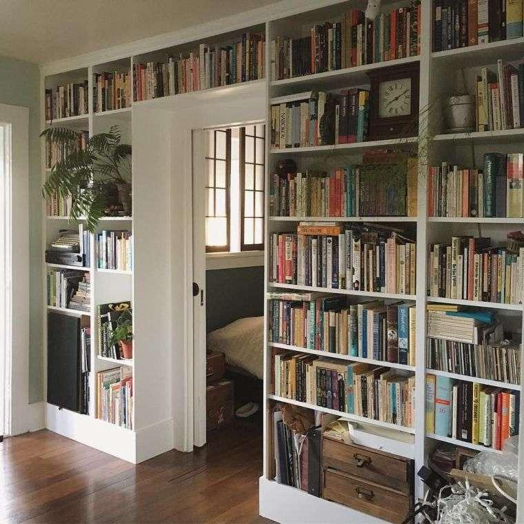 estantes modernos libros
