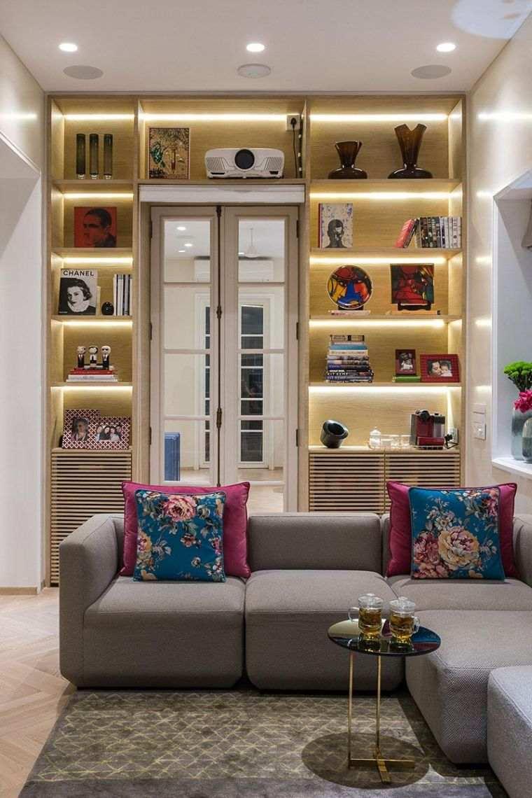 estantes modernos luces