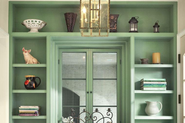 estantes modernos verde