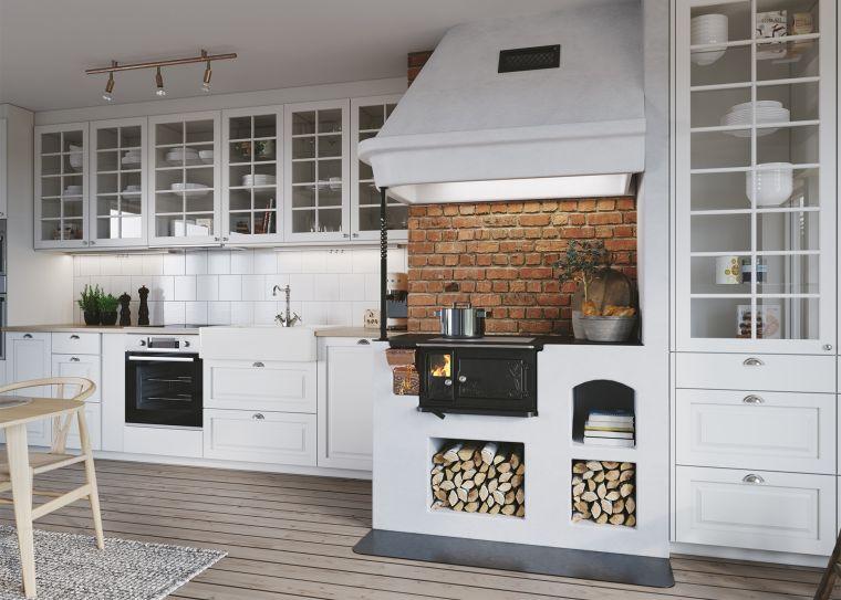 estufas de leña en cocina