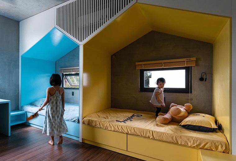 habitaciones para compartir diseño