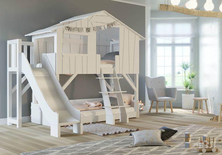 habitaciones para compartir minimalista