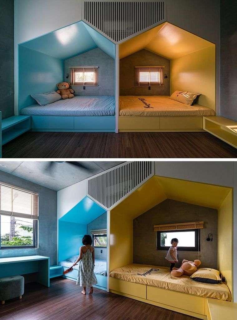 habitaciones para compartir niños