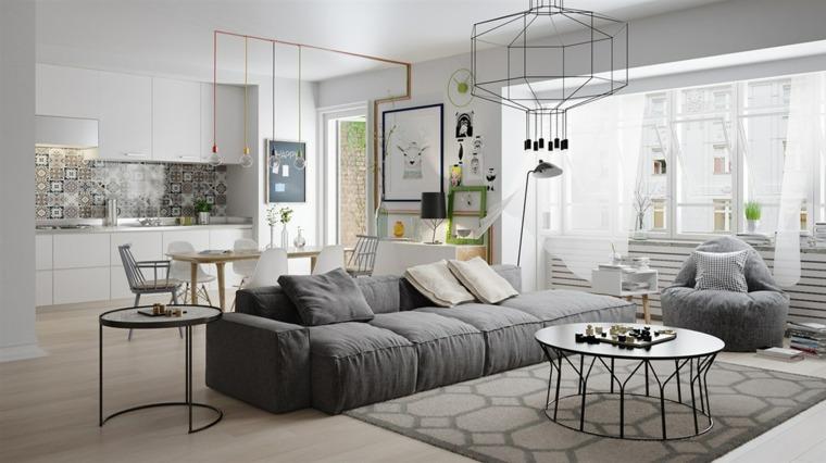 ideas de decoración de interiores-estilo-escandiavo