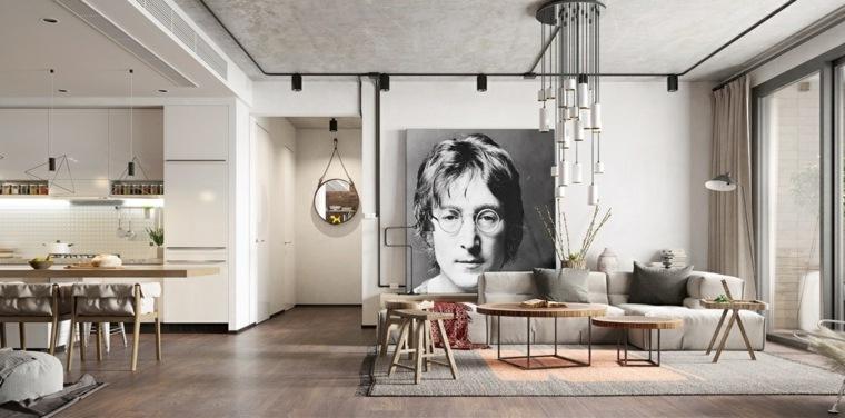ideas de decoración de interiores-john-lennon-decor