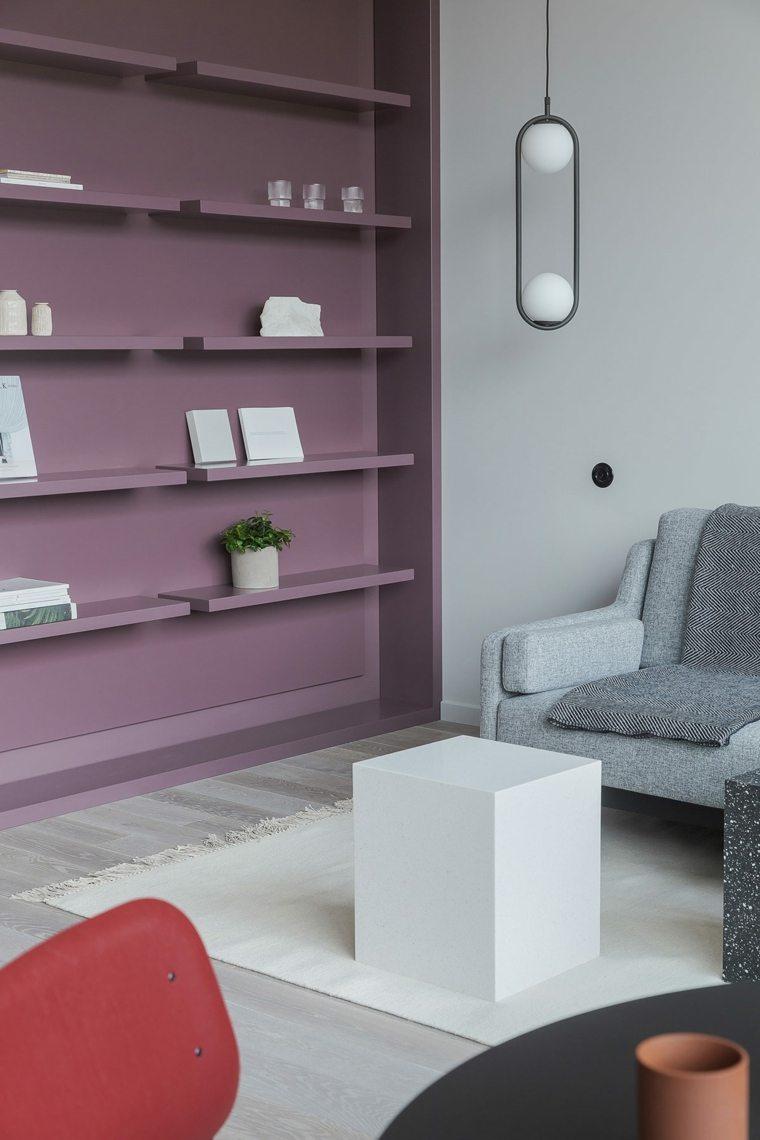 ideas de decoración de interiores-mesita-cubo