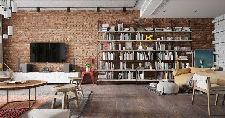 ideas-de-decoración-de-interiores-pared-ladrillo