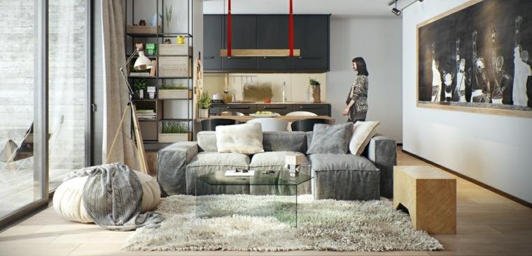 ideas-de-decoración-de-interiores-rojo-gris