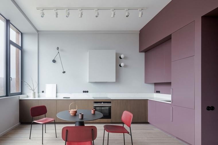 ideas-de-decoración-de-interiores-sillas-rojas