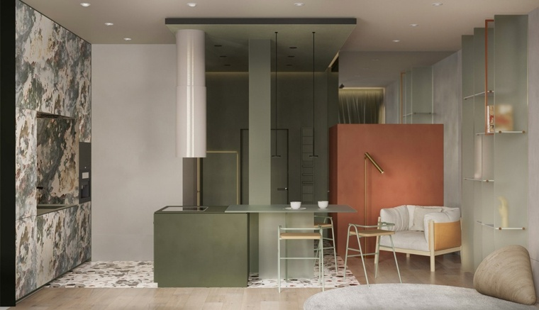 ideas-de-decoración-de-interiores-sillas-verdes