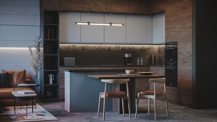 Iluminación para cocinas  -isla