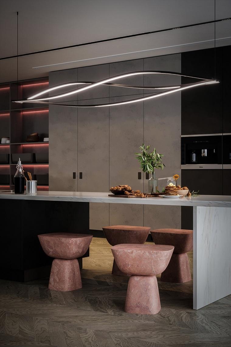 Iluminación para cocinas lampara-bella-саеья