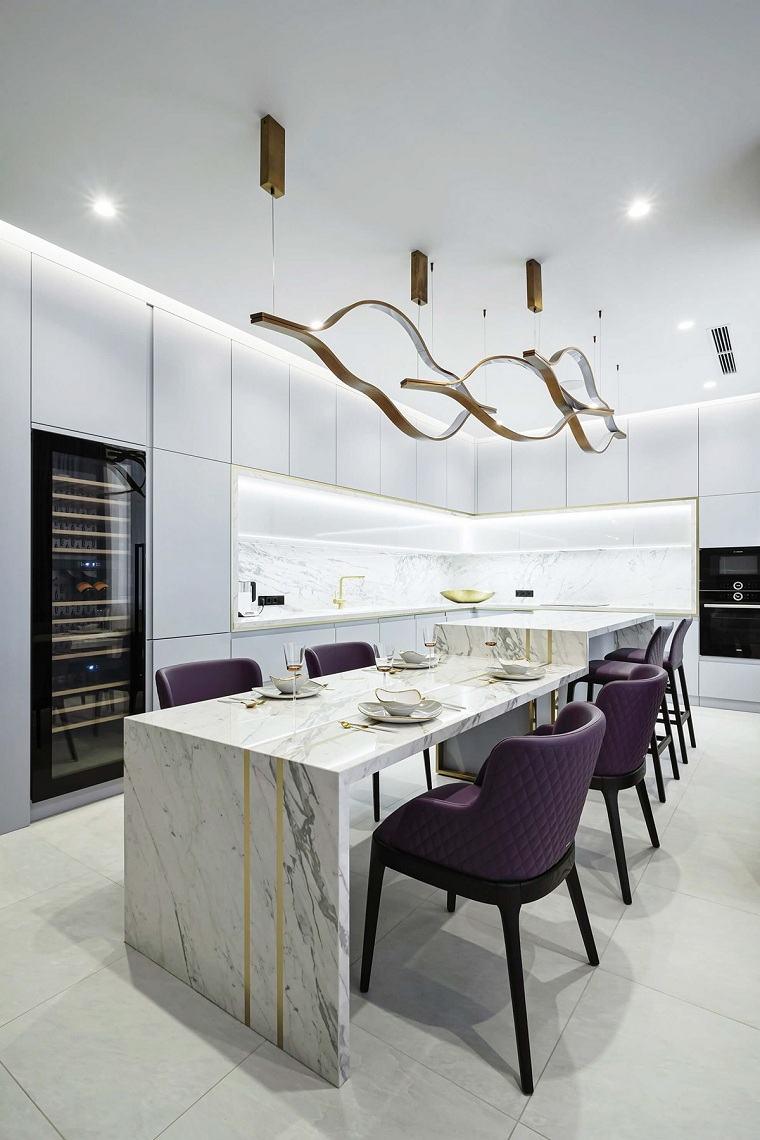 iluminacion-para-cocinas-marmol-comedor