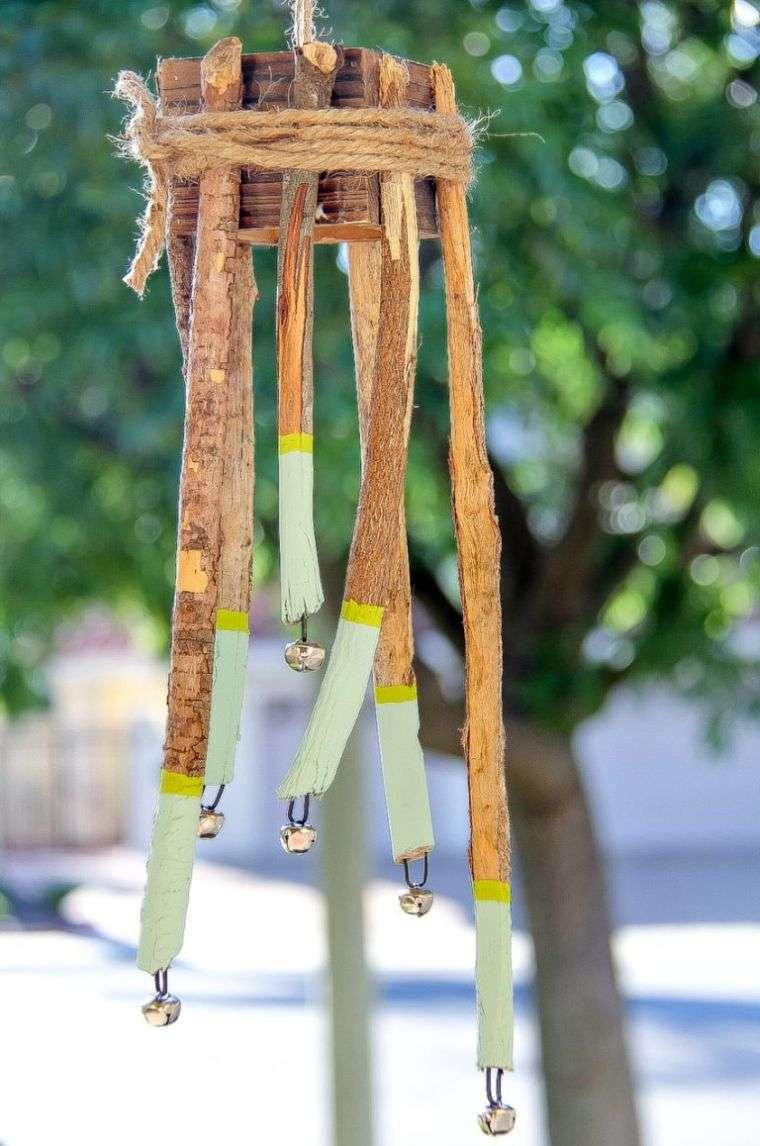 manualidades ramitas campanas