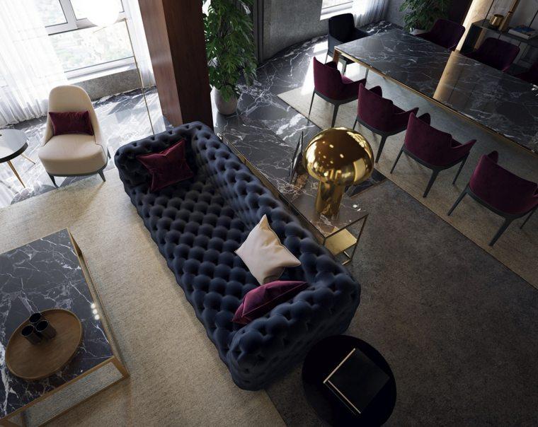 mesa-comedor-marmol-oscuro