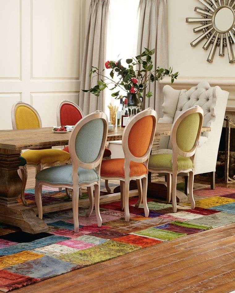 mesas de comedor colores