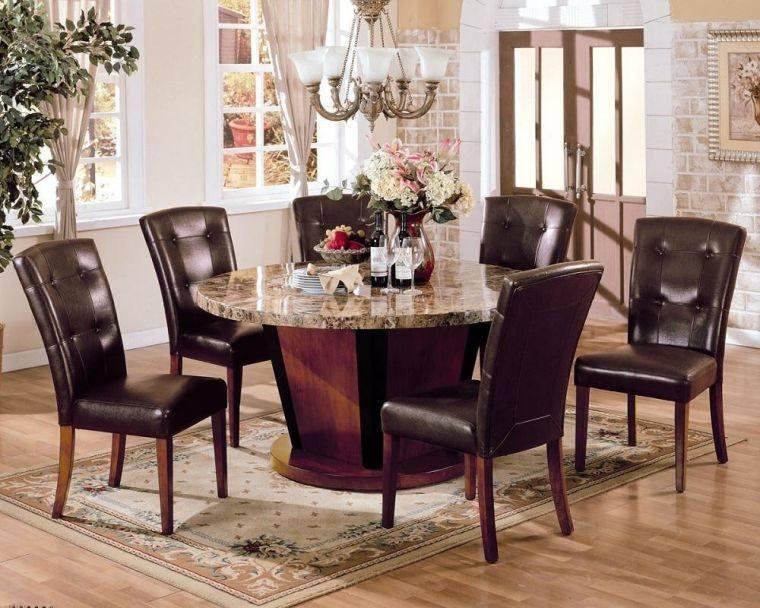 mesas de comedor marmol