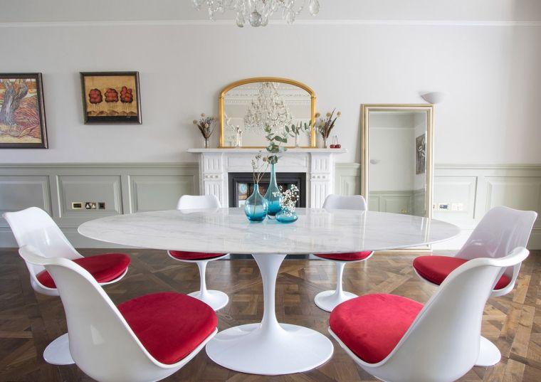 mesas de comedor ovalada