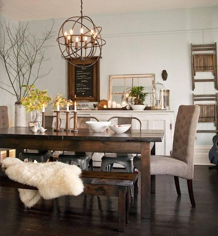 mesas de comedor rustica