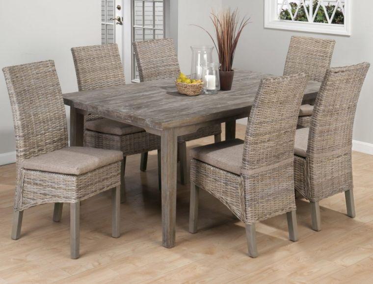 mesas de comedor sillas mimbre