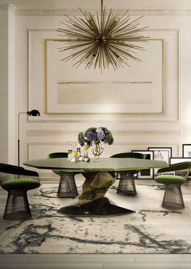 mesas de comedor verde