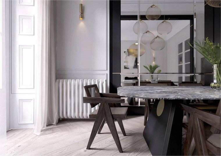 mesas de diseño comedor-marmol