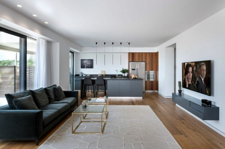 muebles-negros-ideas-salon-amplio