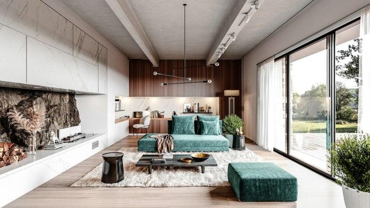 muebles-verdes-sala-estar-amplia
