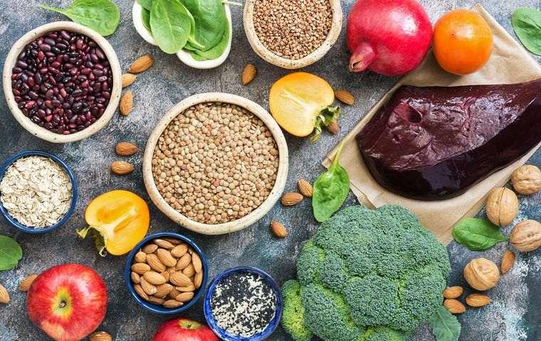 nutrición con hierro