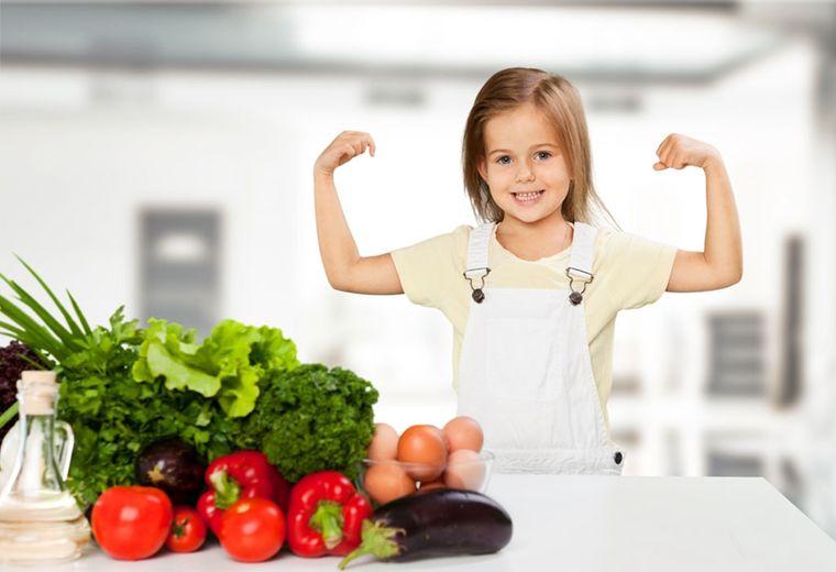nutrición niña