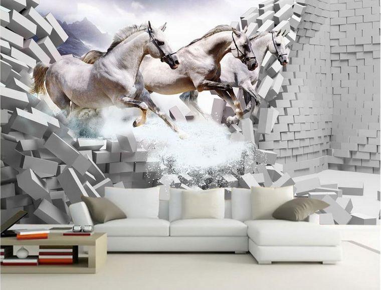 papel pintado caballos