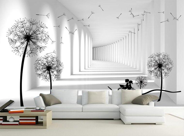 Papel pintado artístico para transformar por completo el interior de tu hogar