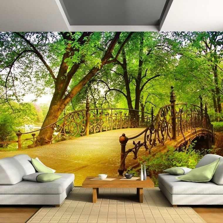 papel pintado paisaje