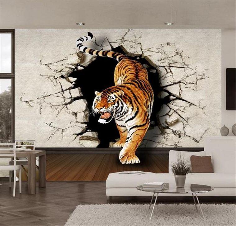 papel pintado tigre