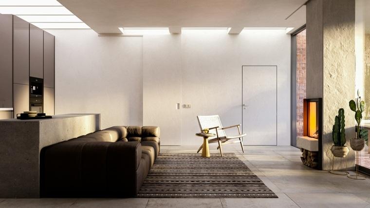 sala de estar moderna ideas-iluminacion