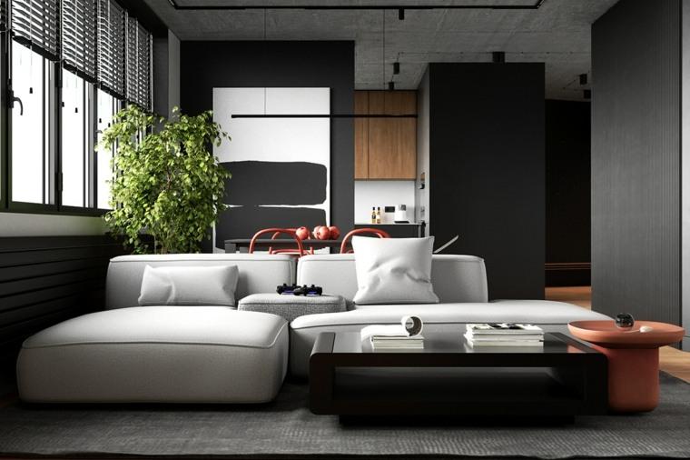 sala-estar-cocina-blanco-negro