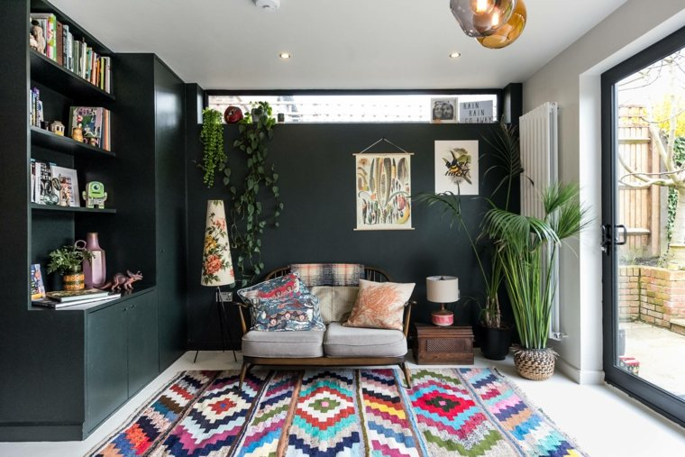 salon-boho-chic-alfombra-estilo